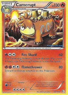Camerupt Boundaries Crossed Pokemon Card