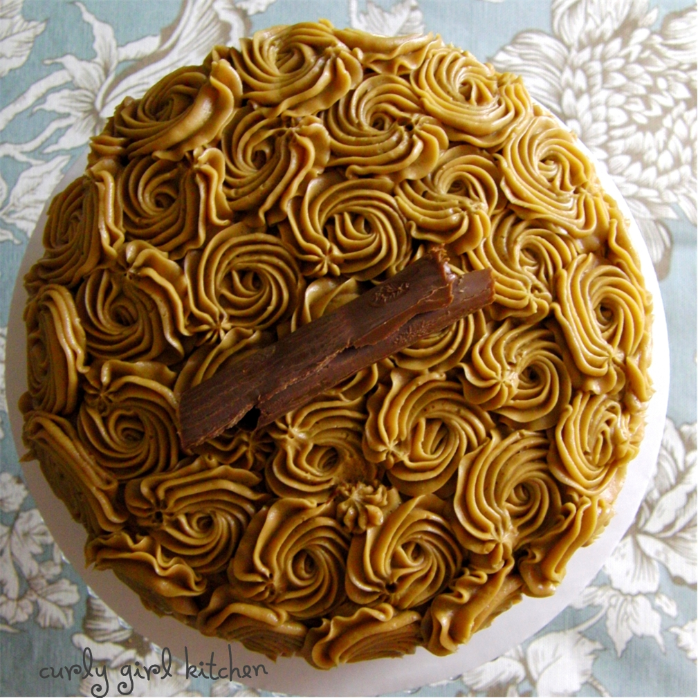 Curly Girl Kitchen: Mocha Rum Cake with Cappuccino Rum Buttercream