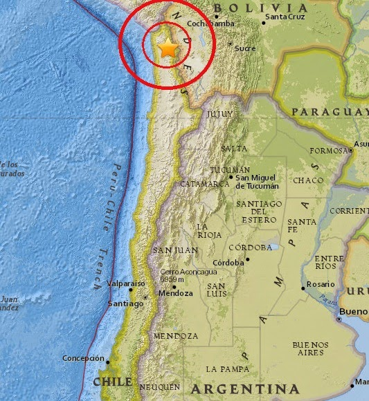 Magnitude 4.5 Earthquake of Putre, Chile 2015-04-08