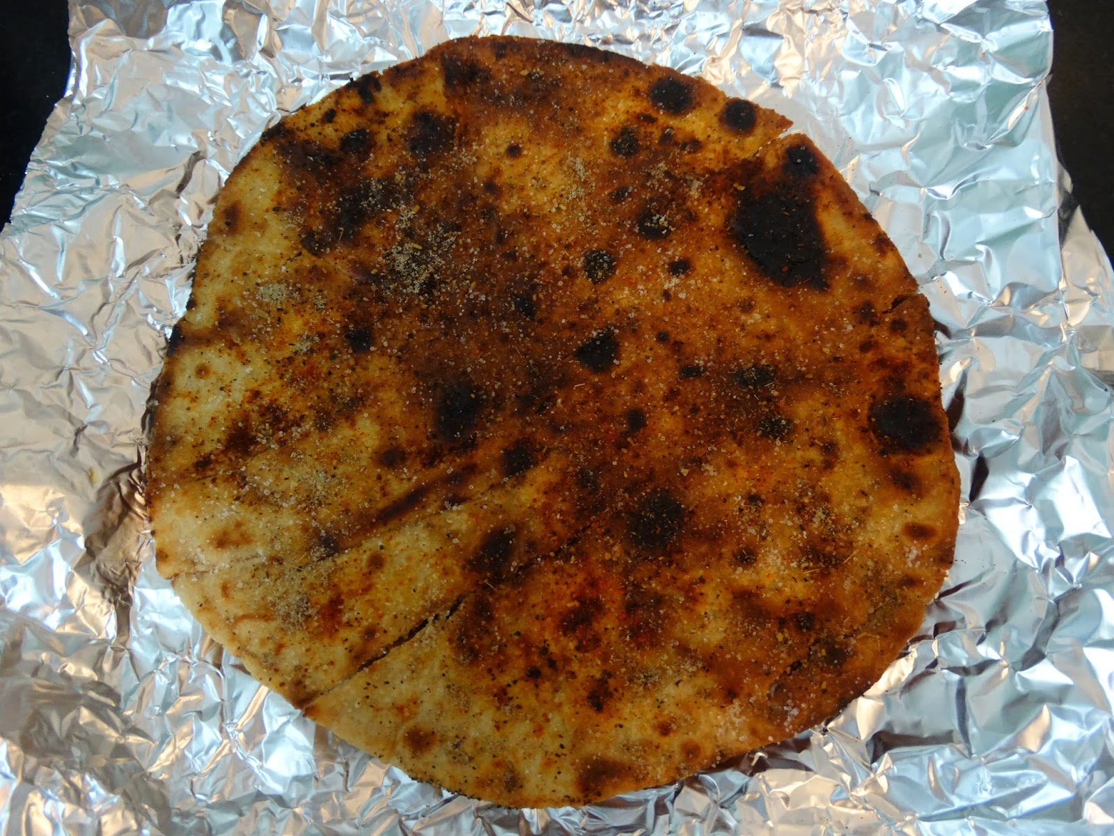 rainingfood.com masala papad using roti