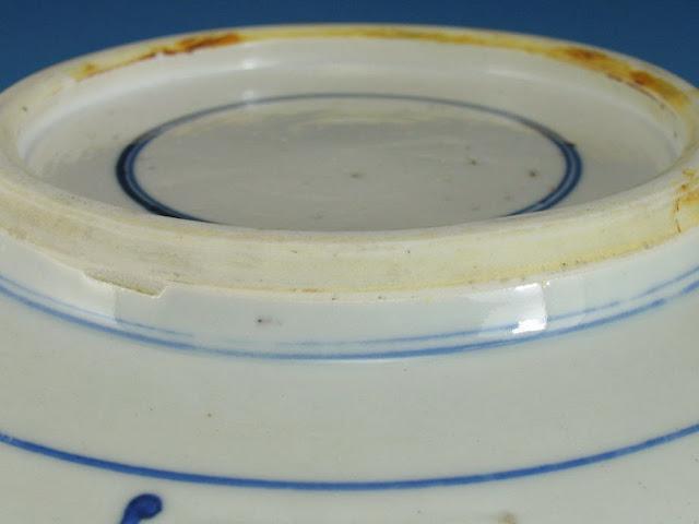 "<img src=""Chinese Kangxi bowl .jpg"" alt=""large blue and white porcelain bowl footrim"">"
