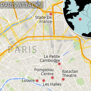 Enam Titik Serangan Teroris di Kota Paris