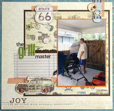 Boy Grill_Stash Busting_Scrapbook Page