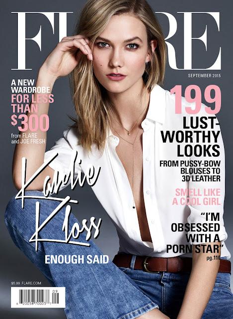 Fashion Model @ Karlie Kloss by Nino Muñoz for Flare September 2015