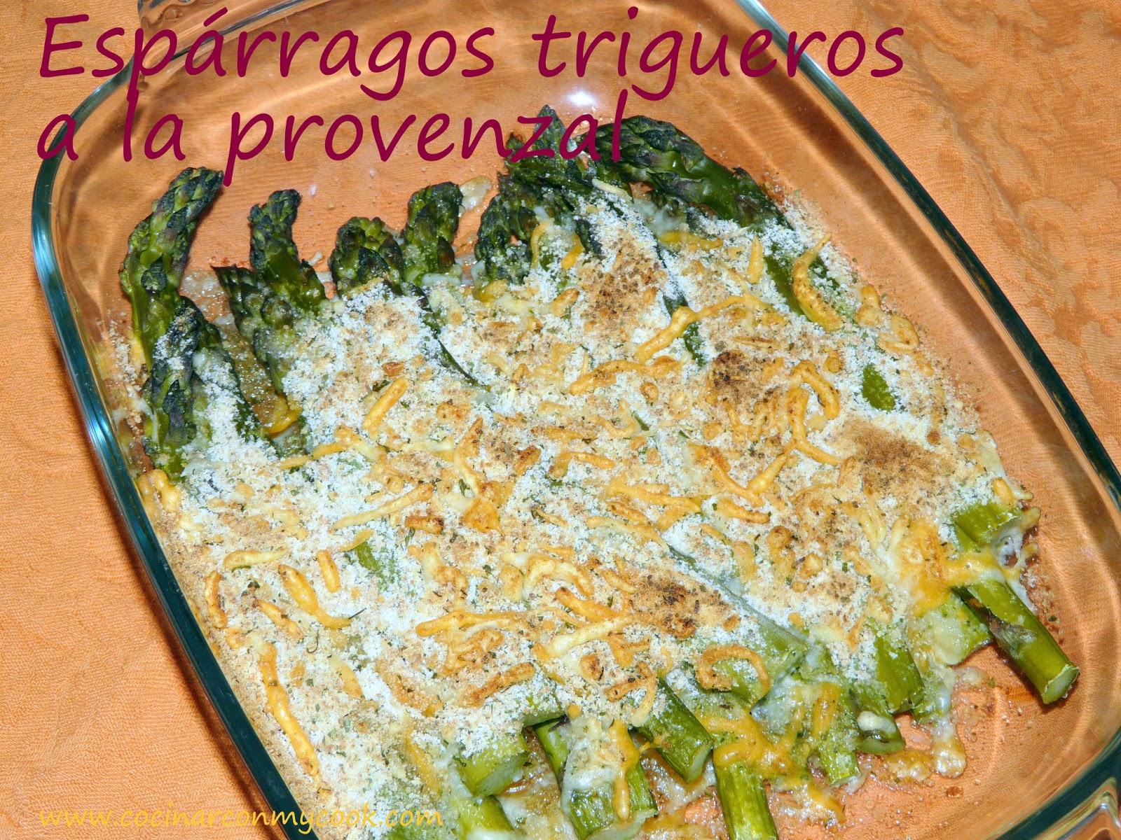 Cocinar con mycook esp rragos trigueros a la provenzal for Cocinar esparragos