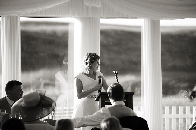 Wedding Photography Doonbeg Ireland, bride speech