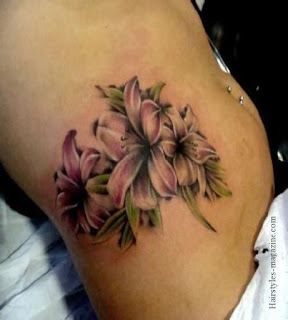 Flower Tattoos On Stomach