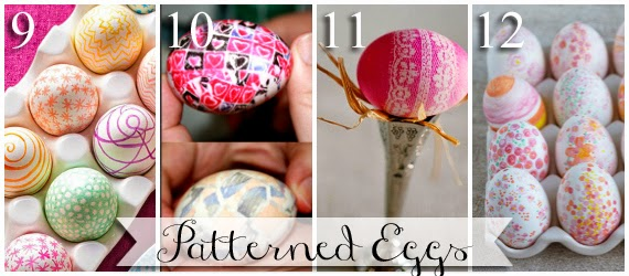 Different ways to make patterned Easter eggs