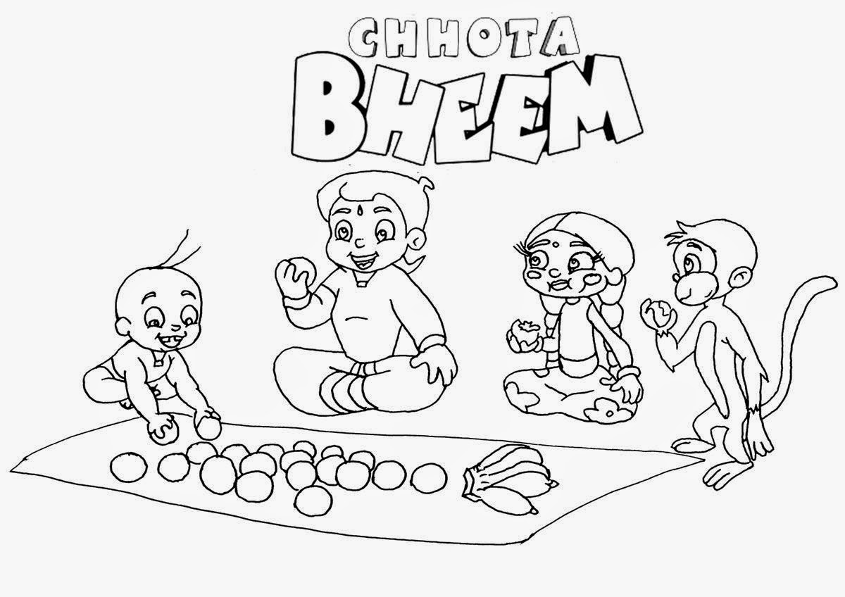 Pogo Cartoon Chota Bheem Coloring Drawing Free wallpaper