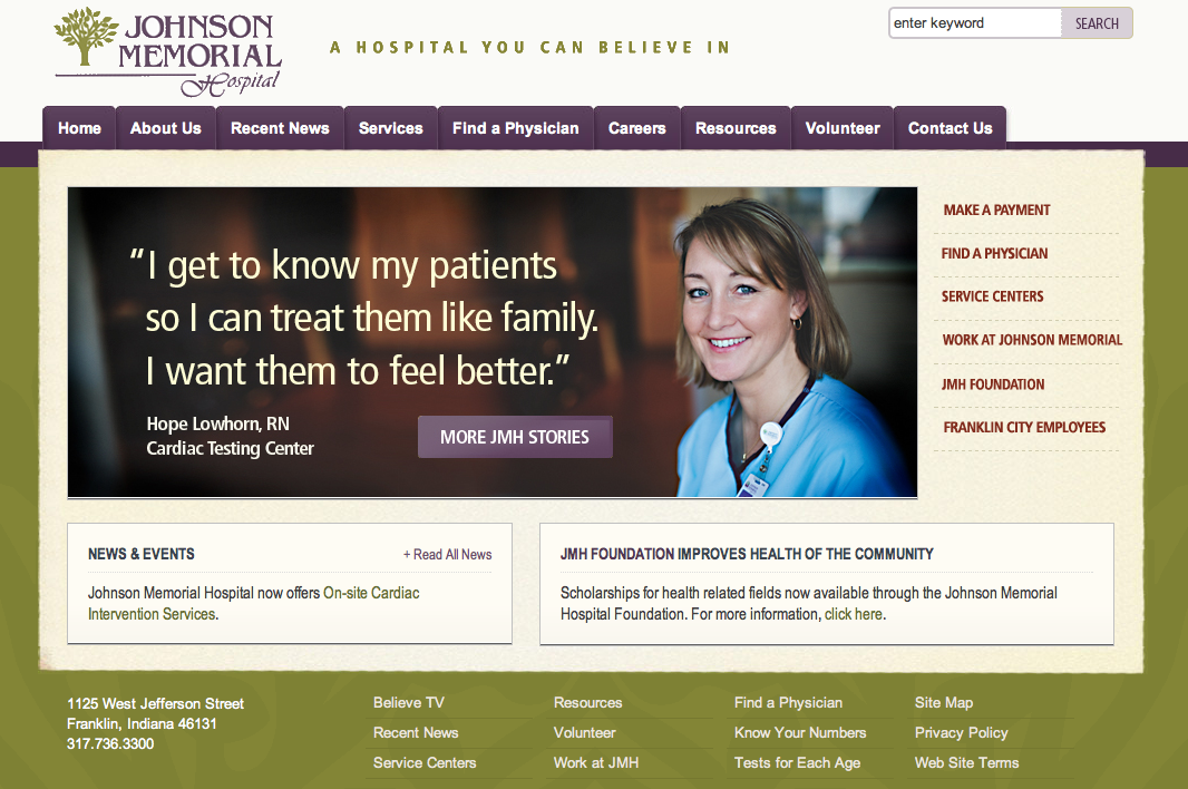 The Best (and Not So Great) Hospital Website Designs ...