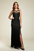 Rochie lunga, de seara, de culoare neagra, marca Dynasty ( )