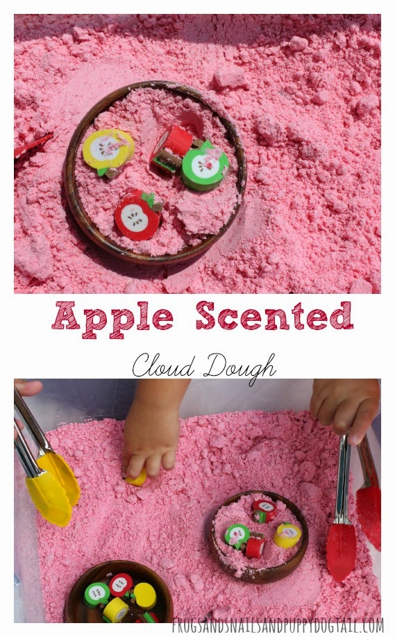 How to Make Apple Scented Cloud Dough