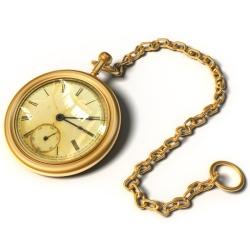 montre ancienne en or avec chaîne