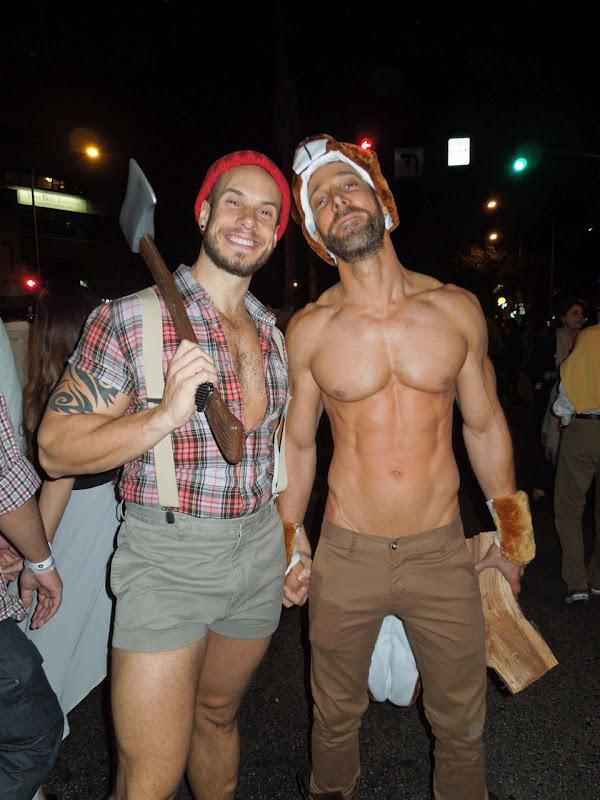 Weho Halloween Carnaval sexy lumberjack woodchuck