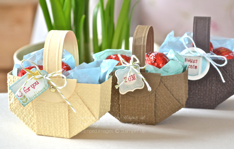 Stampin up ideas and supplies from vicky at crafting clares heres how to make my easter basket negle Choice Image
