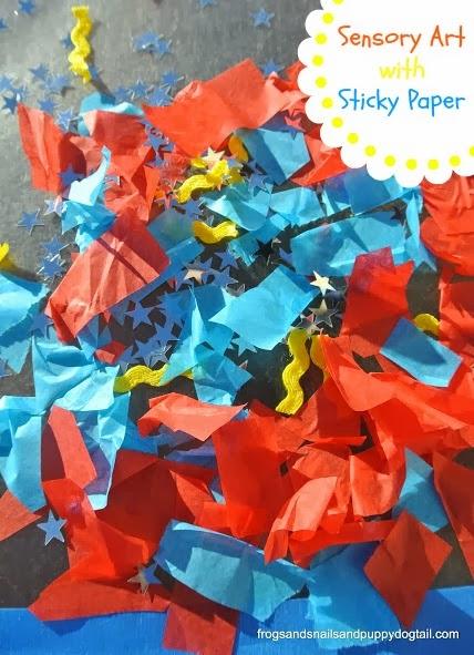 Sensory Art with Sticky Paper