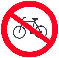 Prohibición a los ciclistas de circular por las aceras