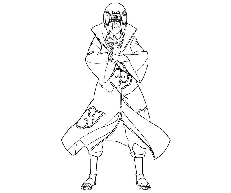 Itachi uchiha coloring pages
