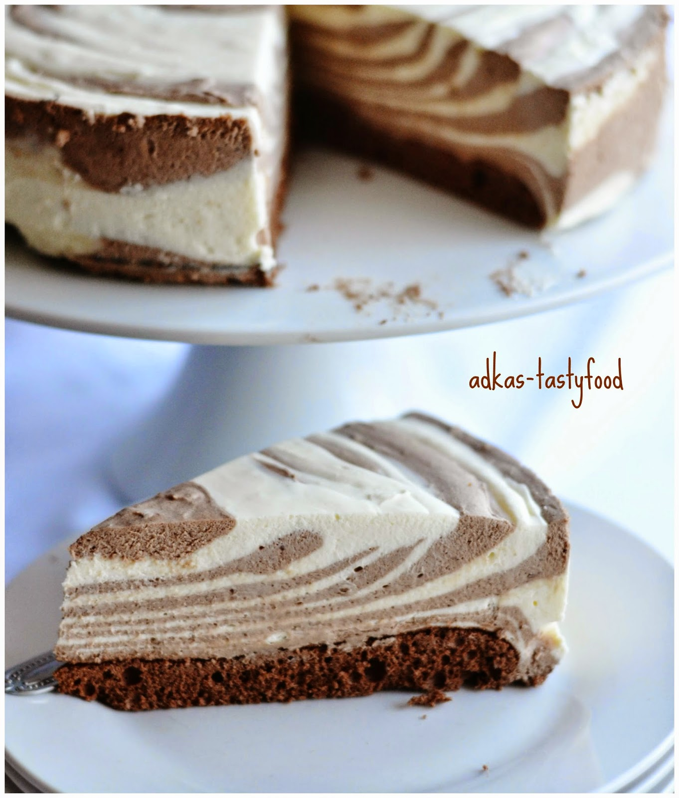 Zebra torta kakaová