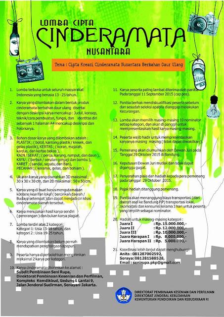 Lomba Cipta Cinderamata Nusantara 2015