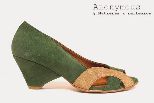 Anonymous escarpins daim vert Elena