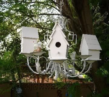 Cute Birdhouse Chandelier