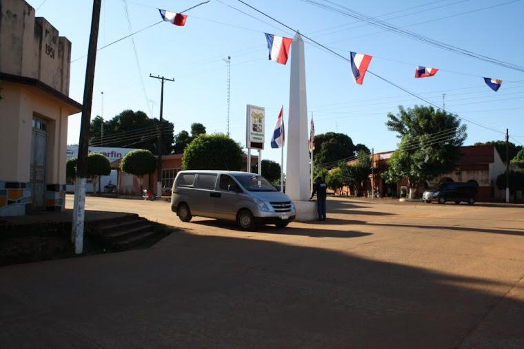 Vista de una las plazas ubicada en frente a la Municipalidad.