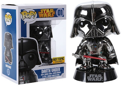 Hot Topic Exclusive Star Wars Chrome Darth Vader Pop! Vinyl Figure by Funko