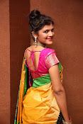 Sangeetha Kamath dazzling saree photos-thumbnail-2