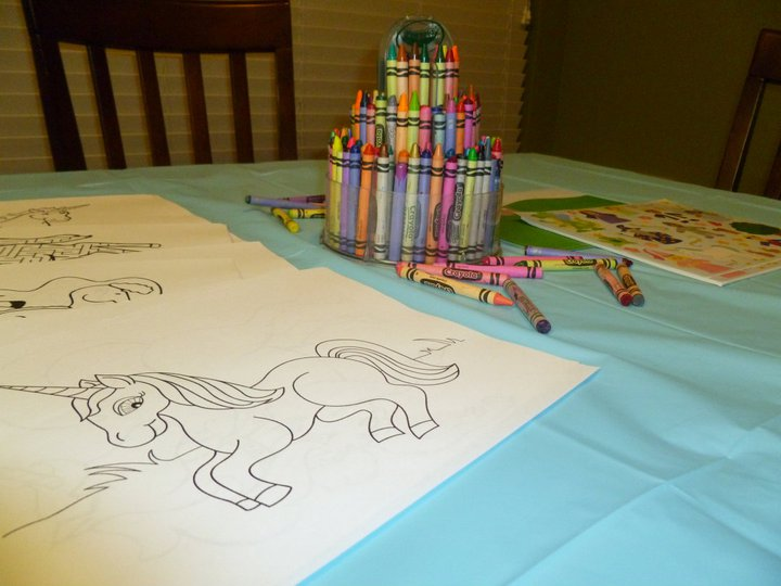 Unicorn Coloring Table I Just Googled Pages And Printed Out A Bunch Do This For Pretty Much Every Single Birthday Party Throw