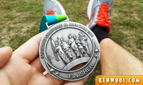 standard chartered kl marathon 2014 finisher medal