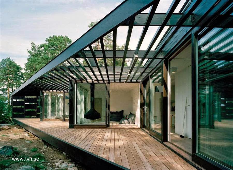 Arquitectura de Casas: Casa vacacional vanguardista sueca frente al mar.