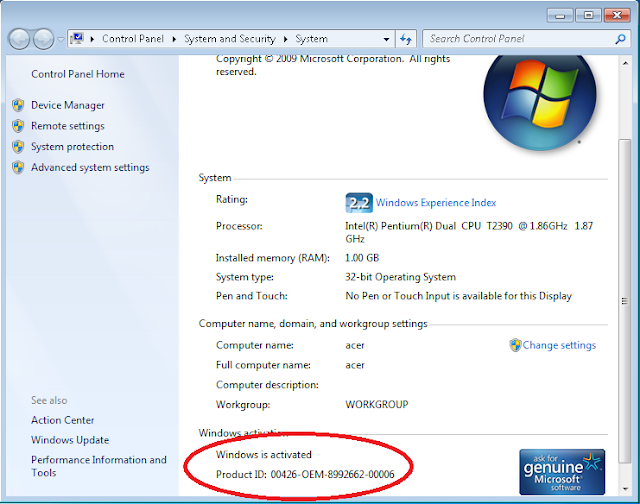 Serial number serial key activasi windows 7 ultimate.