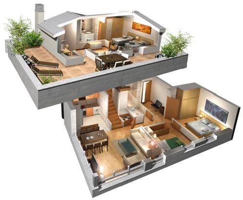 Fachadas de casas dos plantas fachadas de casas for Disenos de casas de dos plantas