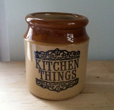 Vintage kitchen stoneware crock pot
