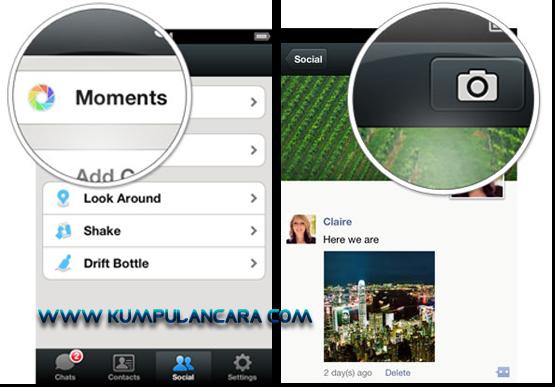Wechat | Cara berbagi foto dengan teman