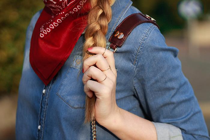 burgundy bandana