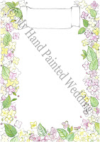 Wedding guest book hand painted hydrangeas design