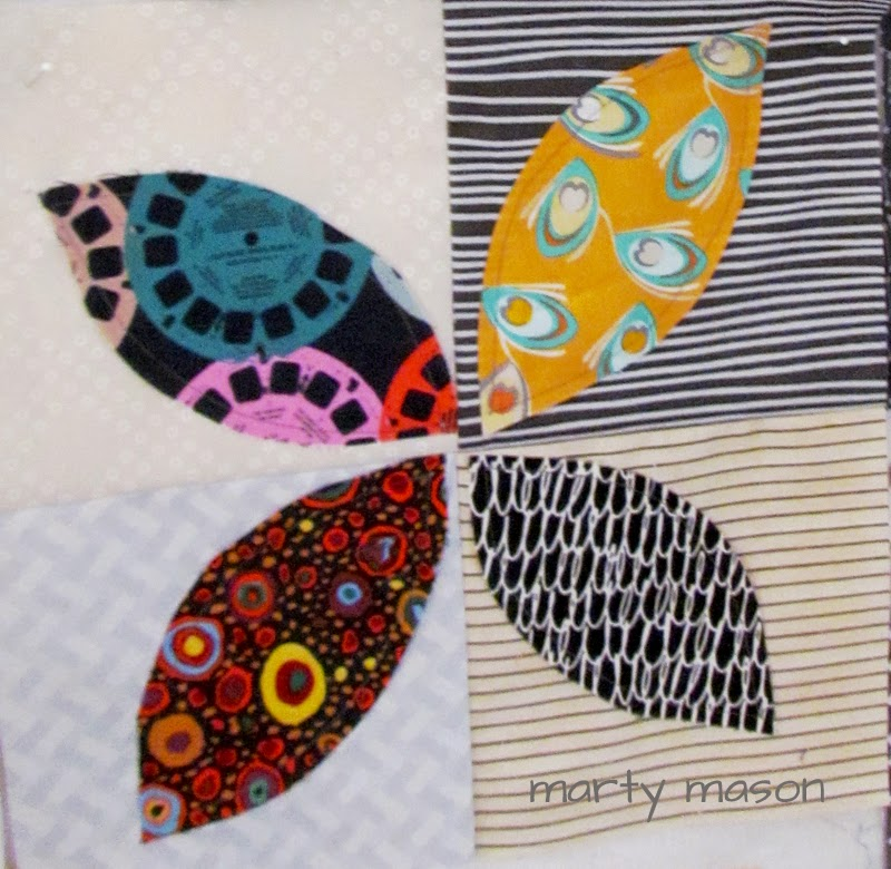 modern improvisational orange peel quilt - Marty Mason