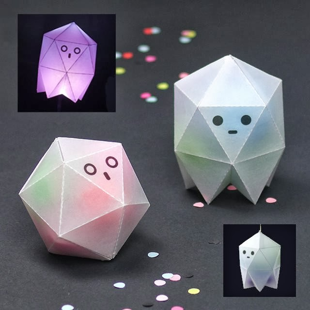 DIY Transluscent Ghost Treat Boxes | Tektonten Papercraft