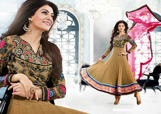 celebrity indian anarkali frocks www.fashionmaza.com