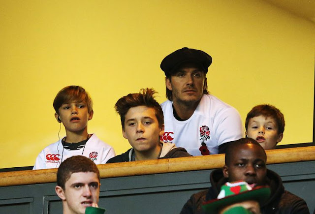 David Beckham at Twickenham earlier this year (Picture:Getty)