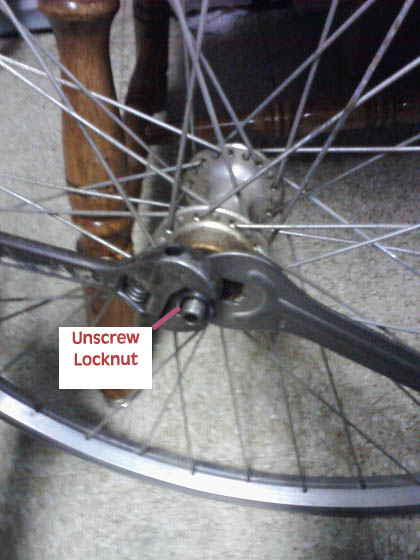 how to break axle nut loose