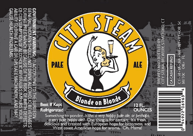 City Steam Blonde on Blonde label design