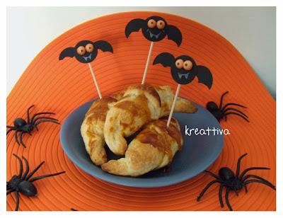 cornetti salati con sciroppo d'acero per halloween