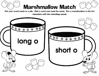 Short O Word Cards http://thebubblegumtree.blogspot.com/2011/12/marshmallows-and-mittens.html