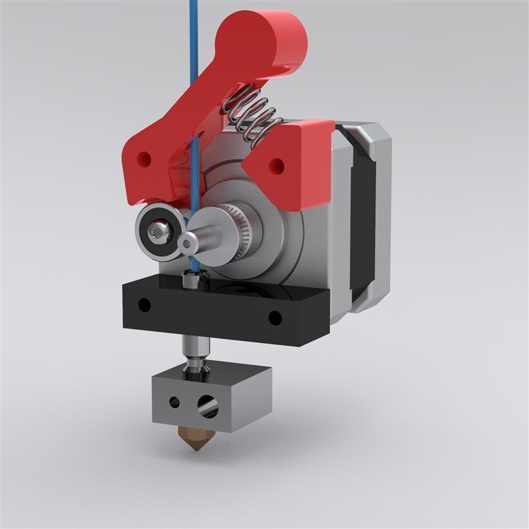 Экструдер прутка для 3d принтера 136