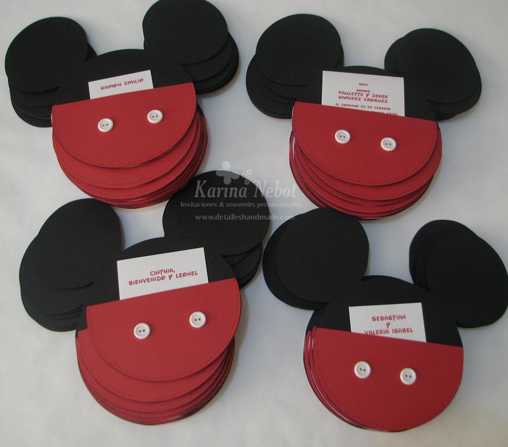 Karina Nebot: Una sola invitación combinando a Mickey y Minnie Mouse