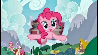 Pinkie Pie advertising her Walkin' Talkin' toy