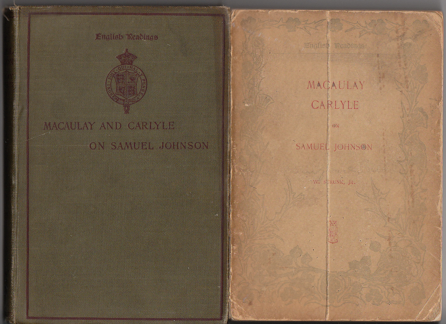 my sentimental library  4 contains appendices pertaining to johnson s boyhood vol 5 covers johnson s life from 1728 to 1735 and vol 6 covers johnson s life from 1735 to 1740